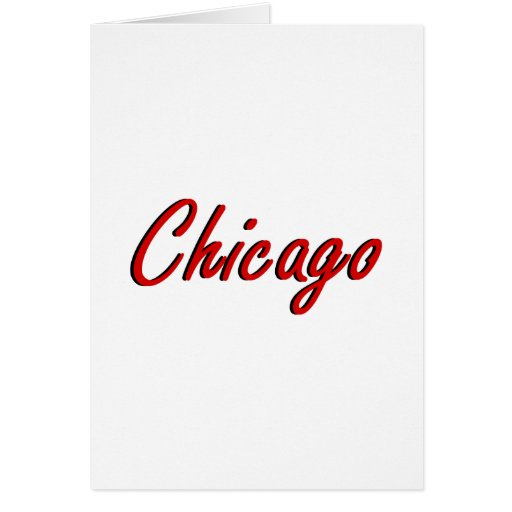 Chicago roja y negra tarjeta pequeña