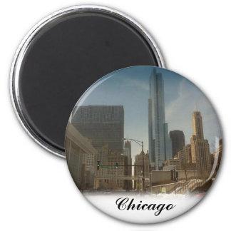 Chicago,Round Magnet