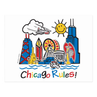 Chicago Rules Postcard