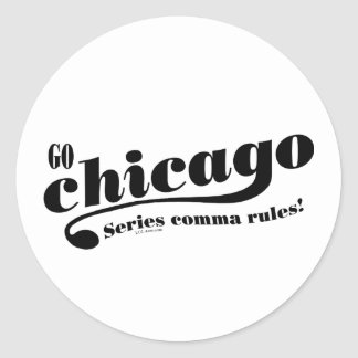 Chicago Rules Classic Round Sticker