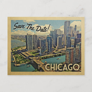 chicago save the date cards zazzle