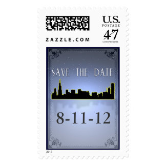 Chicago Save the Date Postage