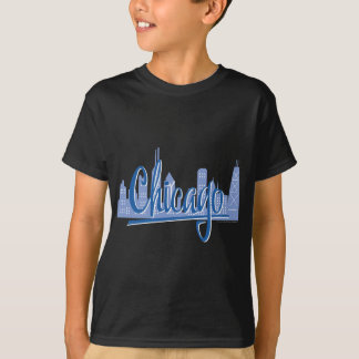 Chicago Script Lght Blue for Dark T-Shirt
