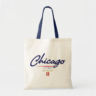 Chicago Script Tote Bag