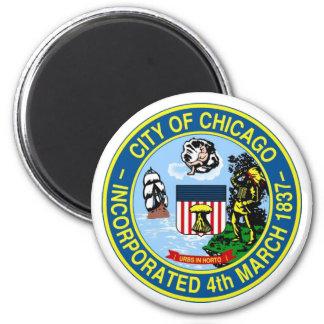 Chicago Seal Fridge Magnet