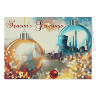 Chicago Season's Greetings Baubles Card