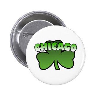 Chicago Shamrock Button