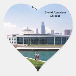 Chicago Shedd Aquarium collection Heart Sticker
