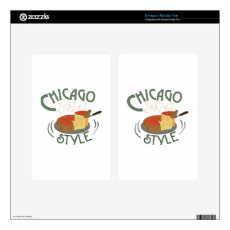 Chicago Sign Kindle Fire Decals