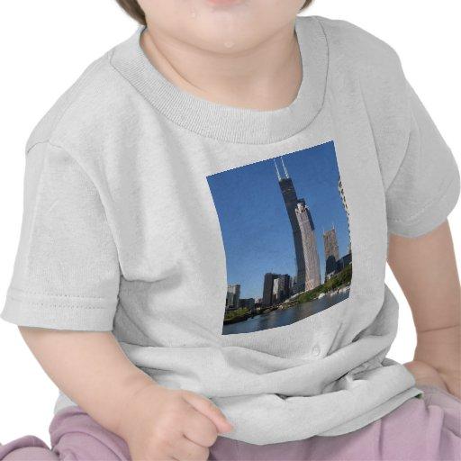 Chicago Skline Camiseta