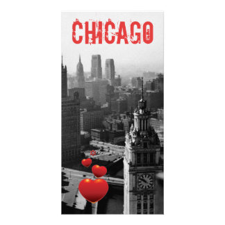 Chicago Skyline1930's from Above view Photograph Card
