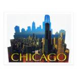CHICAGO SKYLINE3 TARJETAS POSTALES