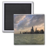 Chicago Skyline 2 2 Inch Square Magnet