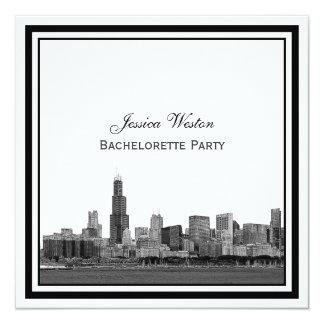 Chicago Skyline #2 Etched Framed Bachelorette Card