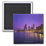 Chicago Skyline 2 Inch Square Magnet
