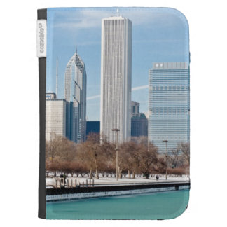 Chicago skyline across frozen Lake Michigan Kindle 3G Cases