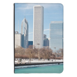 Chicago skyline across frozen Lake Michigan Kindle Touch Case