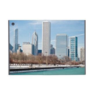 Chicago skyline across frozen Lake Michigan Covers For iPad Mini