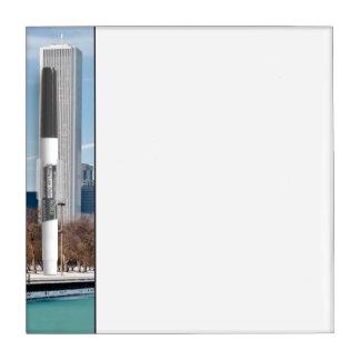 Chicago skyline across frozen Lake Michigan Dry Erase Board