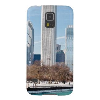 Chicago skyline across frozen Lake Michigan Galaxy S5 Cover