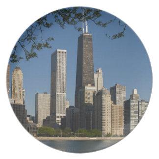 Chicago skyline and Lake Michigan, Lake Shore Dinner Plate