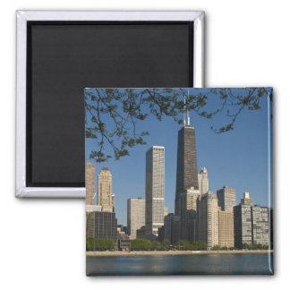 Chicago skyline and Lake Michigan, Lake Shore Magnet