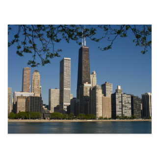 Chicago skyline and Lake Michigan, Lake Shore Postcard