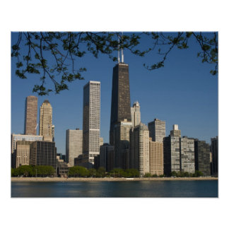 Chicago skyline and Lake Michigan, Lake Shore Posters