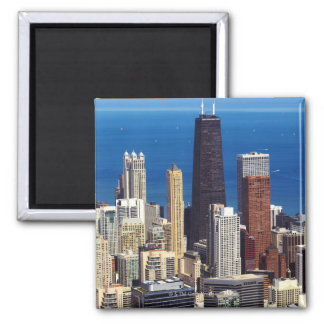 Chicago Skyline and landmarks 2 Inch Square Magnet