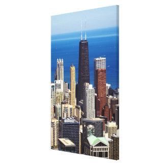 Chicago Skyline and landmarks Canvas Print