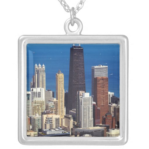 Chicago Skyline and landmarks Custom Necklace