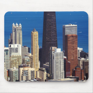 Chicago Skyline and landmarks Mouse Pad
