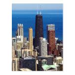 Chicago Skyline and landmarks Postcard