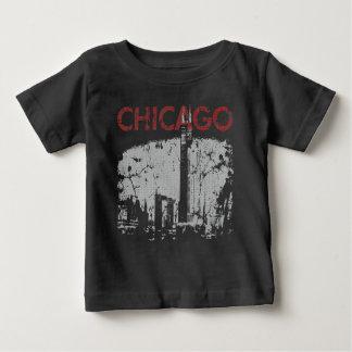 Chicago Skyline Art Baby T-Shirt