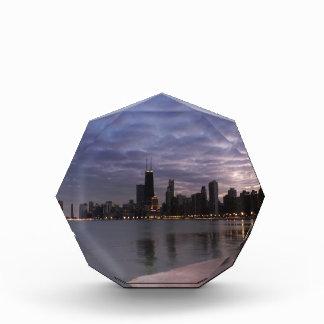 Chicago Skyline at Dusk Acrylic Award
