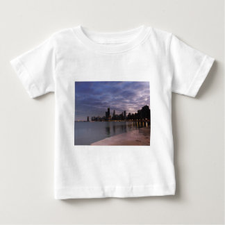 Chicago Skyline at Dusk Baby T-Shirt