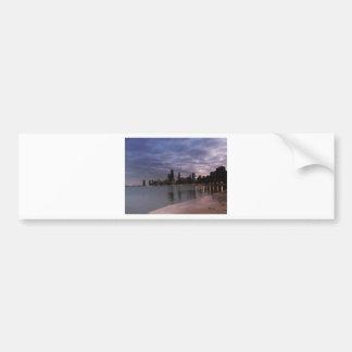 Chicago Skyline at Dusk Bumper Sticker