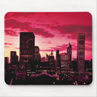 Chicago Skyline at Dusk Mouse Pad