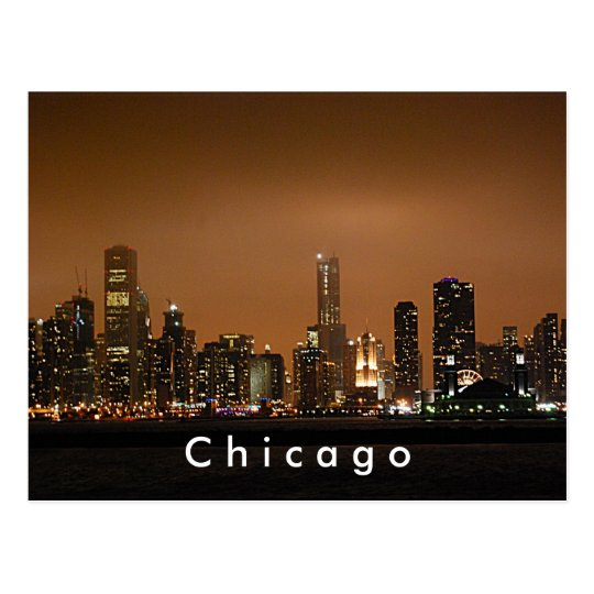 Chicago Skyline at Navy Pier Postcard