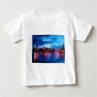 Chicago Skyline At Night Baby T-Shirt