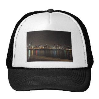 Chicago Skyline at Night Trucker Hat