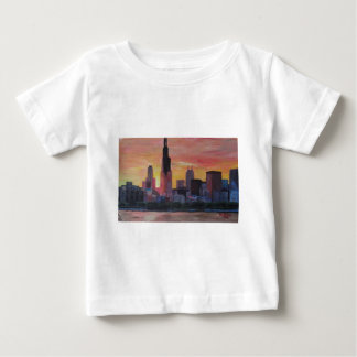 Chicago Skyline at Sunset Baby T-Shirt