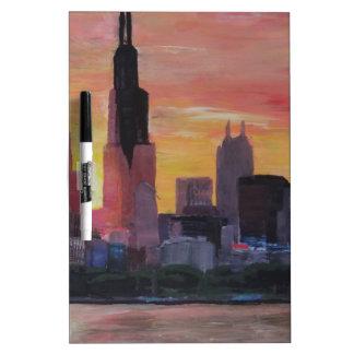 Chicago Skyline at Sunset Dry-Erase Boards