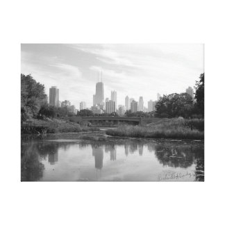 Chicago Skyline Black and White Large Photo Print
