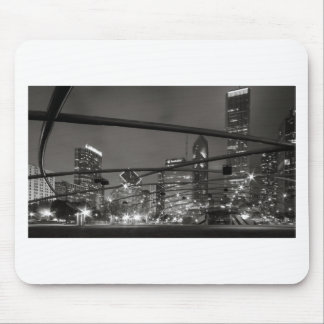 Chicago Skyline Black & White Mouse Pad