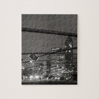 Chicago Skyline Black & White Jigsaw Puzzles