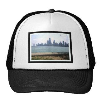 Chicago Skyline Bordered Trucker Hat