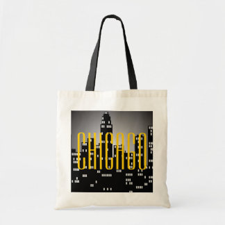 Chicago Skyline Budget Tote Bag