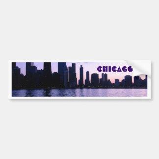 Chicago skyline bumper sticker car bumper sticker