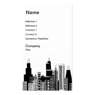 Chicago Skyline Business Cards